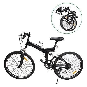 "Ridgeyard MountaiNe 26"" 7 velocidades Plegable Bicicleta Folding Bike Bicicleta de montaña Shimano (Negro"