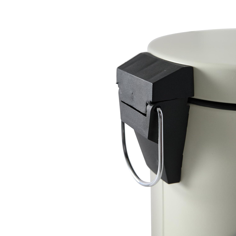 Aprox 17 x 24,5 cm axentia Paris Capacidad de 3/l Color Blanco Antiguo Cubo de Basura met/álico para ba/ño