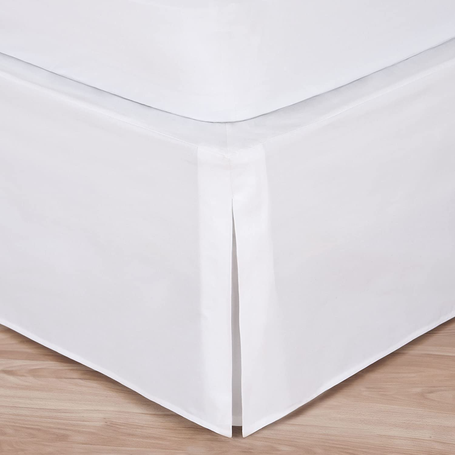 (Queen) - White Bed Skirt: Tailored Pleat, 36cm Drop (Queen) B01NAQ5IND  クイーン