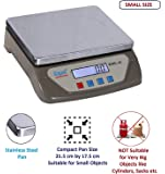 Equal Digital Kitchen Weighing Scale 25 Kg With White Backlight Display (Grey)