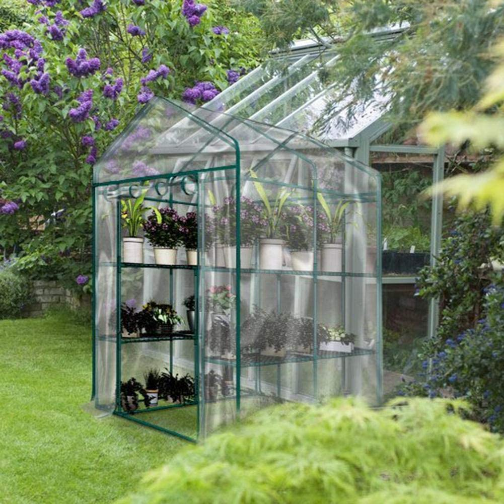 chinejaper Mini Greenhouse Pop Up Grow House Without Iron Frame Corrosion-resistant PVC Plants Warmhouse Cover Waterproof Greenhouse Garden Cover