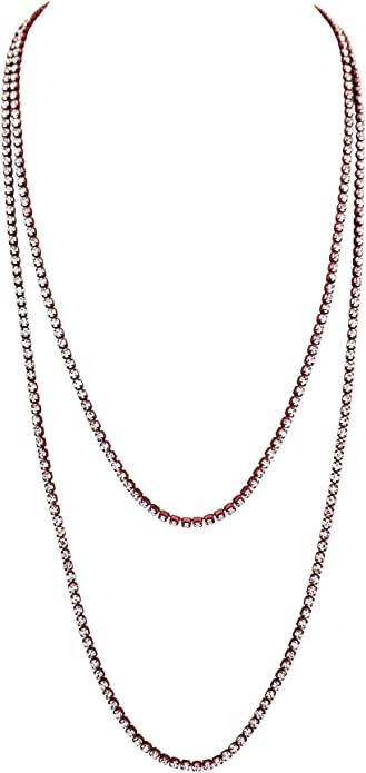 Modern round glass rhinestone crystal soutache necklace