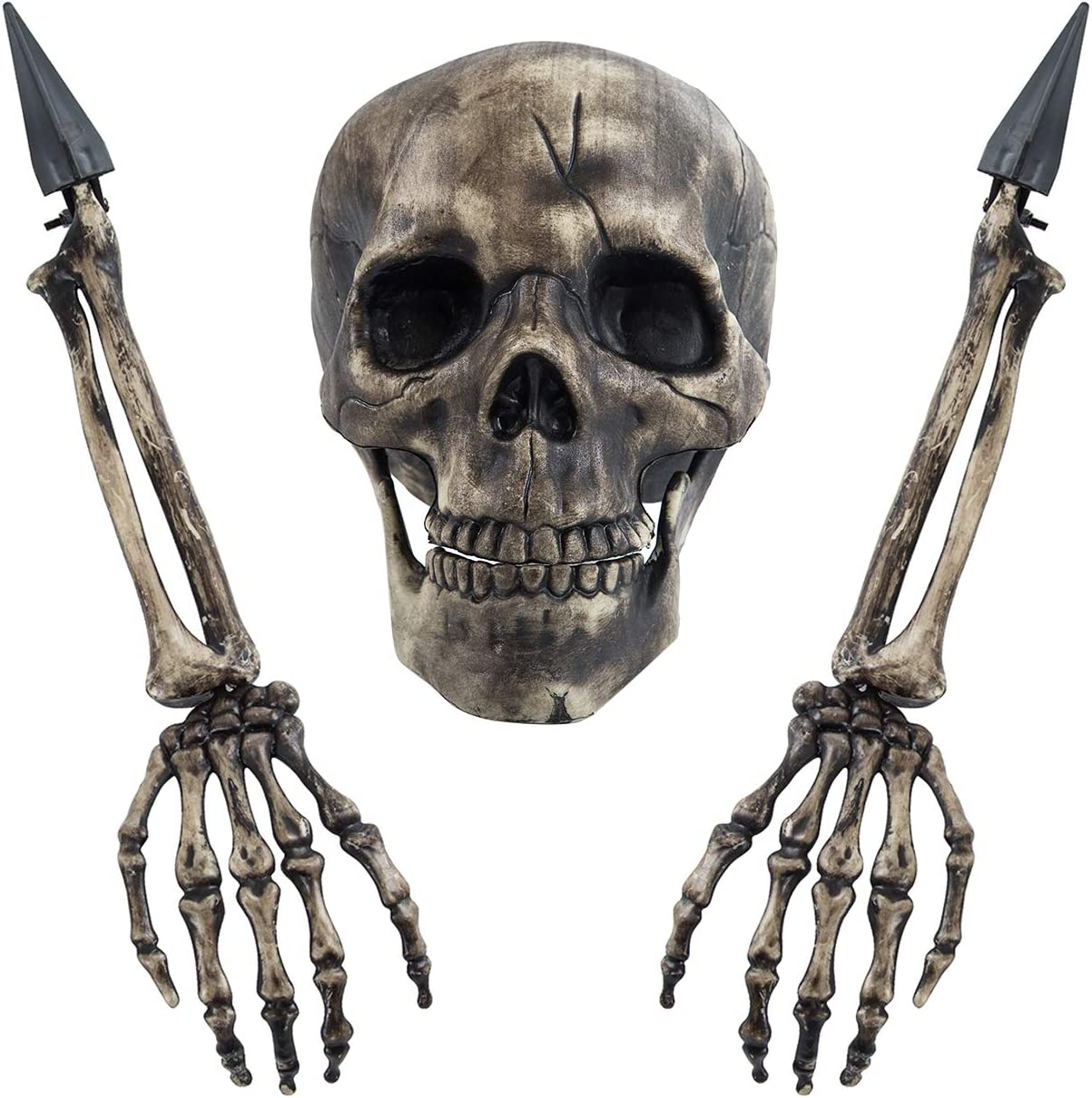 Sunnyglade Realistic Skeleton Stakes Halloween Decoration Scary Ground Breaker Skull and Skeleton for Outdoor Yard Lawn Stake Garden Graveyard Decoration: Garden & Outdoor