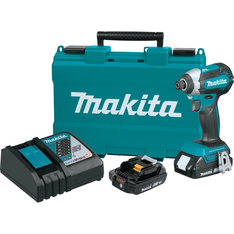 Makita XDT13R 2.0Ah 18V LXT Lithium Ion Compact Brushless Cordless Impact Driver Kit