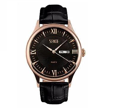 ... Cronógrafo Fecha resistente al agua reloj de pulsera unisex Business Casual simple diseño clásico vestido rosa tono DW Boss ZC0111: Amazon.es: Relojes