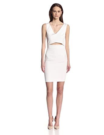 French Connection Women's Glamorous Stretch Dress, Winter White, 2