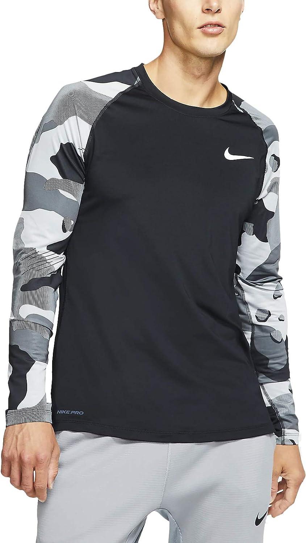 Nike Mens Pro Long Sleeve Camo Slip T
