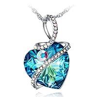 Fairy Season Colgante Mujer, Collar ángel custodio con Corazón Cristales Swarovski Hermosa Caja Regalos, Libre de Níquel