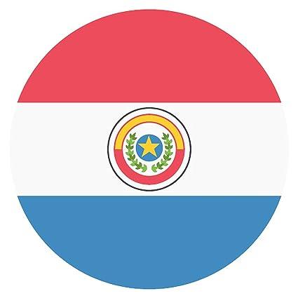 IamEngland Bandera de Paraguay Emoji Letrero metálico