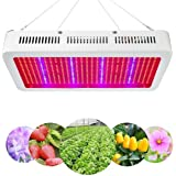 Derlights High Power 600W Led Grow Light Full Spectrum, Red & Blue Mixed with UV+IR, Growing Lamp for Vegetable Flower Budding Horticulture Indoor Garden Greenhouse Hydroponics Growing System AC85-265V