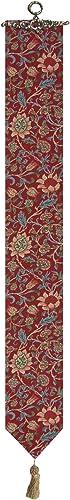 Fleurs de Morris Red I Tapestry Bell Pull