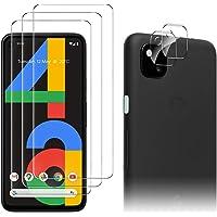 Luibor for Google Pixel 4a Screen Protector[3 Pack]+ for Google Pixel 4a Camera Lens Protector Anti-fingerprint Anti…