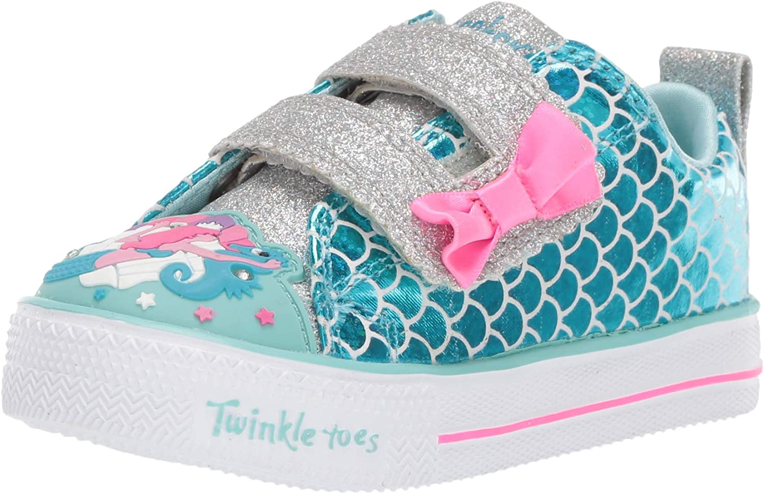 Skechers Baskets Twinkle Toes Mermaid Parade Turquoise Fille