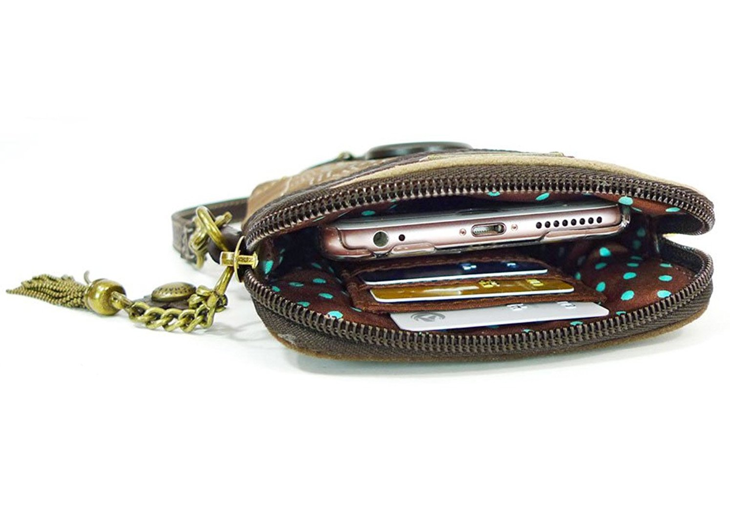 Chala Crossbody Cell Phone Purse - Women PU Leather Multicolor Handbag with Adjustable Strap - Mermaid - Blue by CHALA (Image #3)