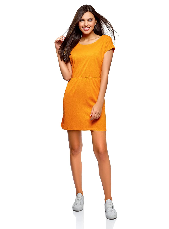 6724c292b61fd4 oodji Ultra Damen Jerseykleid mit Gummizug in der Taille 60%OFF ...