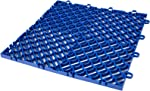 Happybuy Drainage Tiles Interlocking 50 PCS Blue, Plastic Tiles 12x12x0.5 Inches,