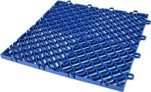 Happybuy Drainage Tiles Interlocking 50 PCS Blue, Plastic Tiles 12x12x0.5 Inches, Deck Tiles Outdoor Floor Tiles, Outdoor Interlocking Tiles, Deck Flooring for Pool Shower Bathroom Deck Patio Garage