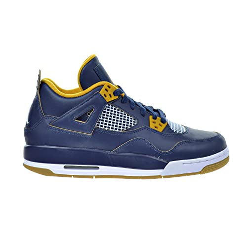 pretty cheap high quality top quality Jordan Air 4 Retro BG Big Kid's Shoes Midnight Navy/Metallic Gold/Gold  Leaf/White 408452-425