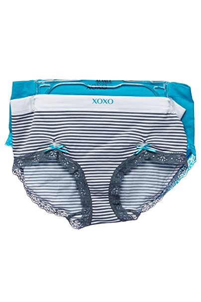 4333d4578 Womens Plus Size XOXO Striped 2 Pcs Seamless Underwear Panties 8079 at Amazon  Women s Clothing store