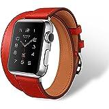 【Phenas】 腕時計バンド アップルウォッチ バンド ベルト 42mm 38mm バンド本革 watch Belt 手作り ハンドメイド Watch 本革ベルト 腕時計バンド apple watch sport belt 延長型 交換リストバンド
