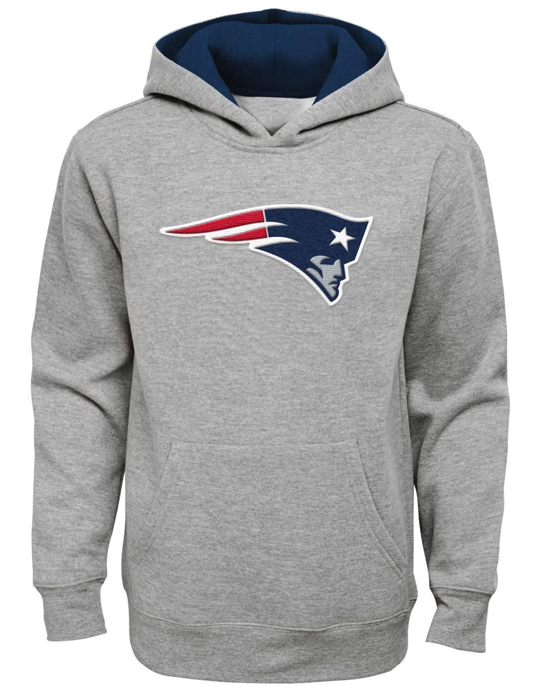 Outerstuff ニューイングランドペイトリオッツ ユース NFL プライムタイム プルオーバー フード付きスウェットシャツ - グレー Small (8)  B07FN5Q19P
