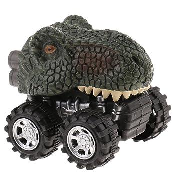 Tirare Indietro Diecast Auto Veicoli Forme Dinosauri Giurassico Giochi Bambini