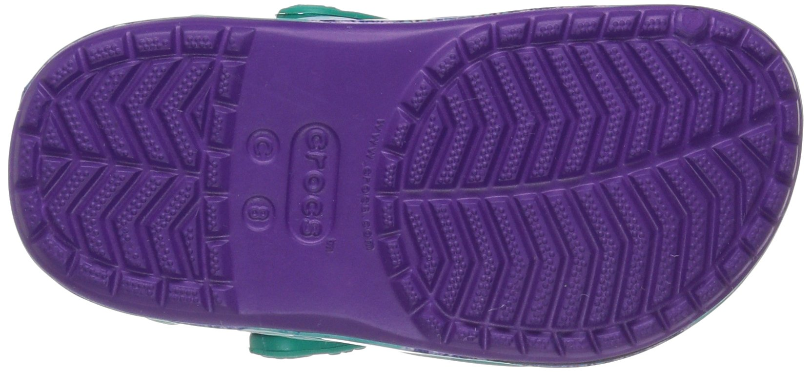 Crocs Girls' CB Princess Ariel K Clog, Amethyst, 13 M US Little Kid by Crocs (Image #3)