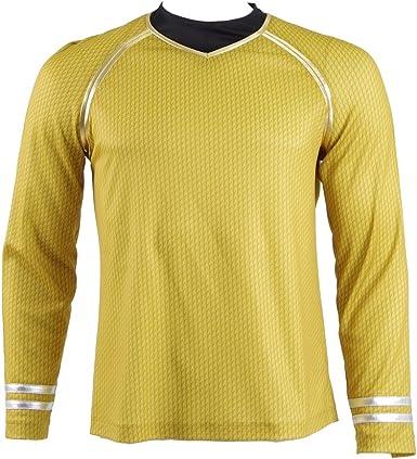 Star Trek Into Darkness Capitán Kirk Camisa Uniforme Disfraz: Amazon.es: Ropa y accesorios
