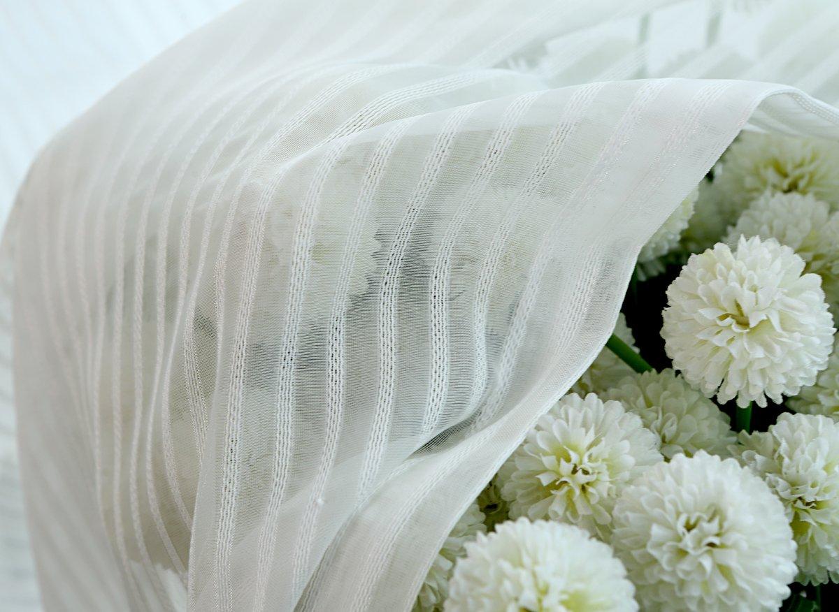 searchi cortinas visillos s/ólido con trabillas para cocina 140B/×175H cm 1pc Narrow