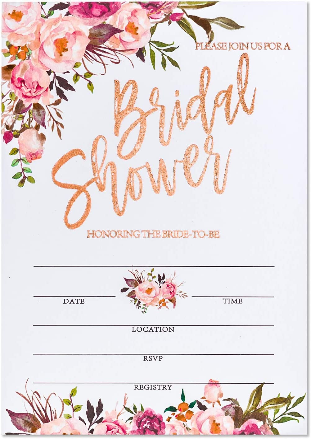 Crisky Rose Gold Foil Bridal B Envelopes with Limited Special Price Shower Minneapolis Mall Invitation