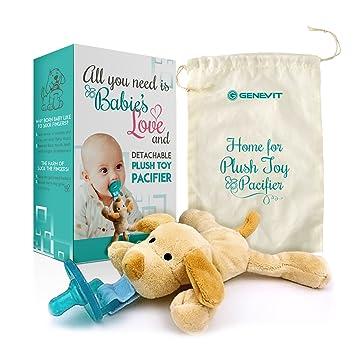 Amazon.com: Chupete con Animal de peluche perro de juguete ...