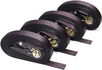 5 Buckled Straps 25mm Cam Buckle 1.5 meters Long Heavy Duty Load Purple 250kg