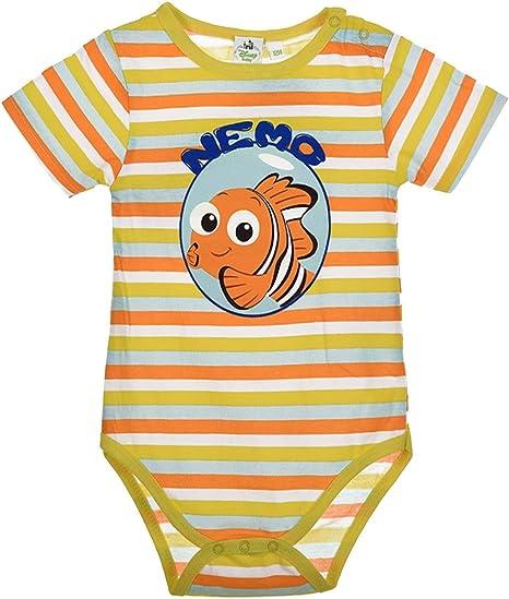 Disney Buscando a Dory y Nemao Body bébé algodón amarillo 18 meses: Amazon.es: Bebé