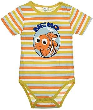 Body bébé garçon et fille Disney Le Monde Dory coton jaune 3 mois ... dbe5c57d96f