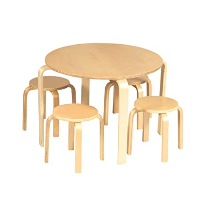 Nordic furniture Office Image Unavailable Amazoncom Guidecraft Nordic Natural Table Chairs Set Kids