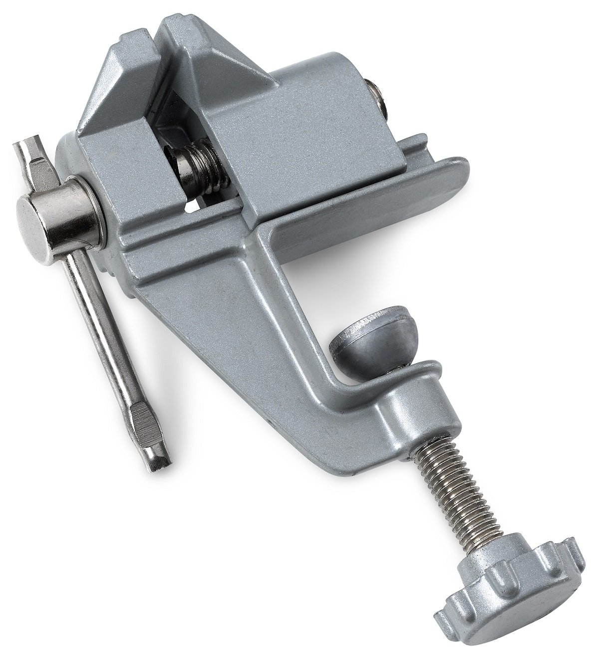 Mini Table/Bench Vise - For Small Work, Crafts, Arts, Detailing, Woodworking, Workbench, Soldering, Garage, Hobbies, Finishing, Modeling, Tables, Flat, Angular, and Round Objects - By Katzco Kayco Usa