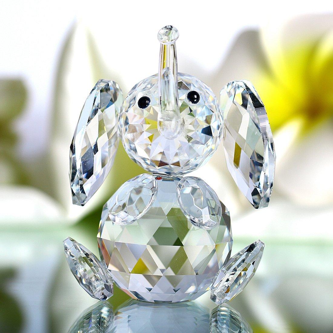 H&D Cut crystal elephant animal figurine collection glass ornament new LTD