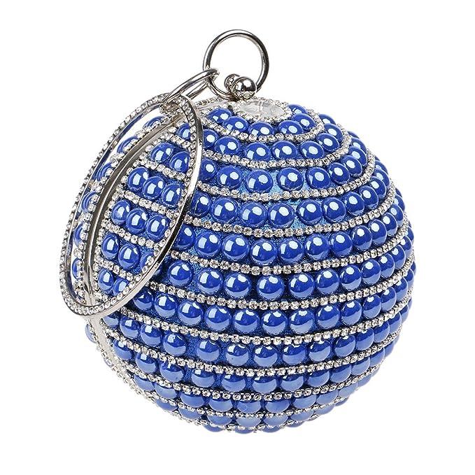 SeñOras Clutches Pelota Bolsa De Noche Diamante Bolsos De Embrague Fiesta Baile De Gala Boda Carteras