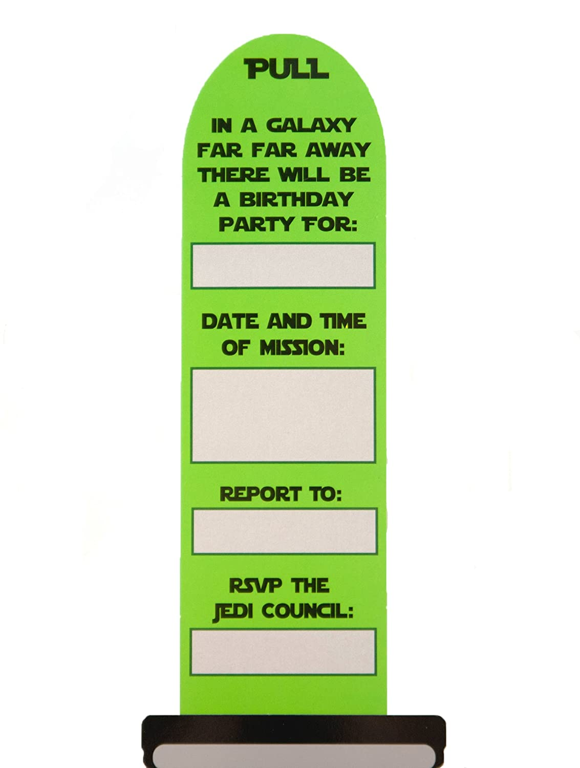 Amazon.com: Light Saber Party Invitations 12 Pack: Toys & Games