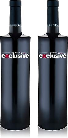 LADRÓN DE LUNAS Vino Tinto Exclusive. D.O Utiel-Requena. Madurado 15 meses en Barrica y 20 en Botella. 100% Bobal. Botella de 75 Cl (Pack de 2 botellas)