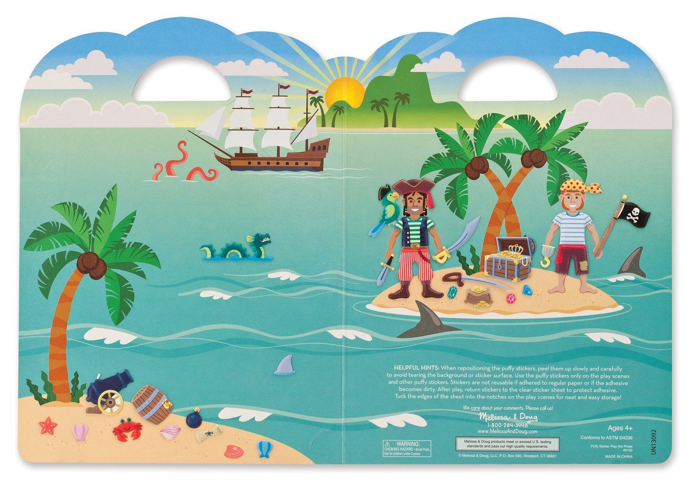 Pirate Safari Melissa /& Doug Puffy Sticker Play Sets On the Farm Melissa and Doug 93257