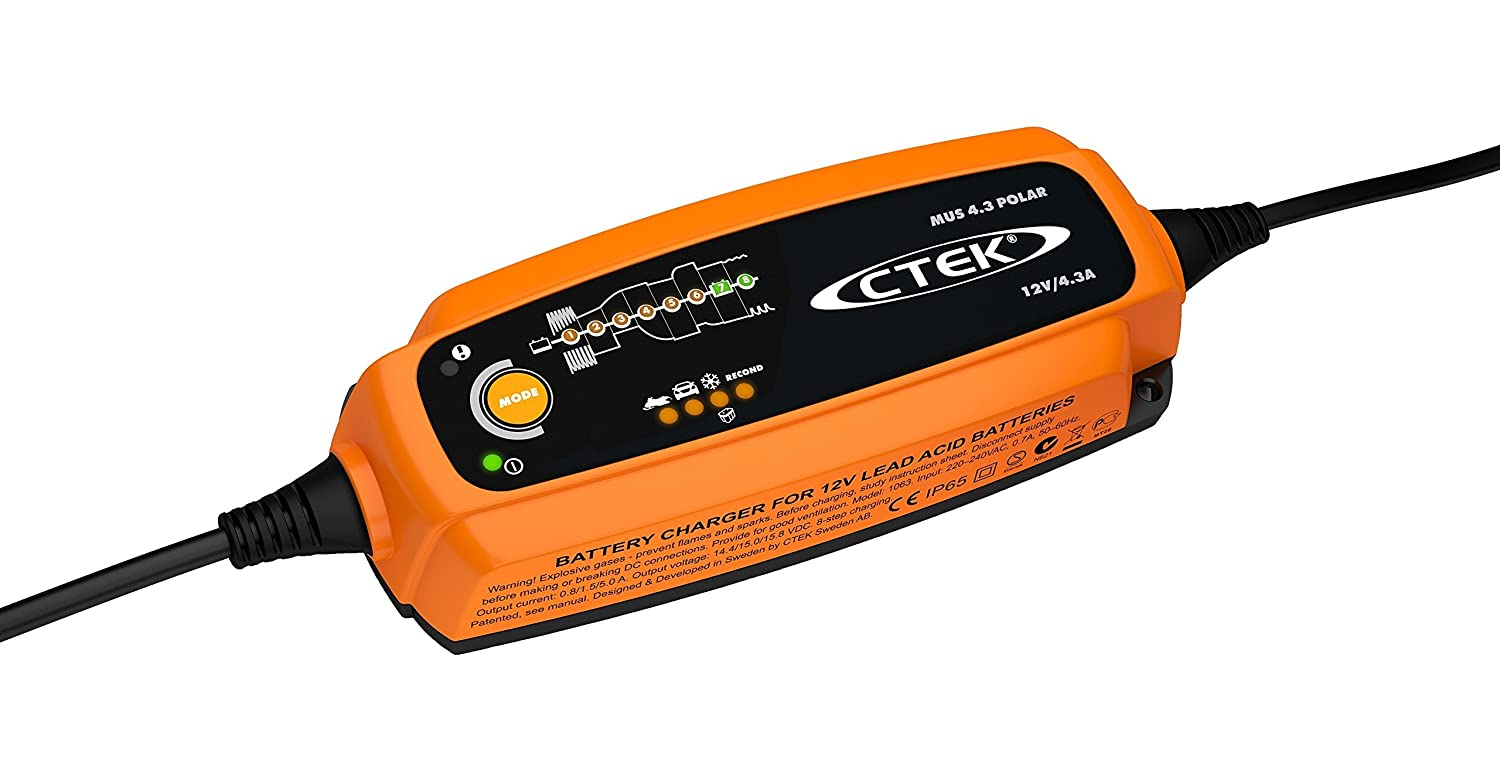 CTEK (56-958) MUS 4.3 POLAR 12 Volt Fully Automatic Extreme Climate 8 Step Battery Charger CTK 56-958