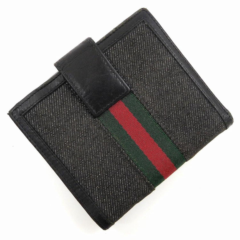 [グッチ] GUCCI 二つ折り財布 キャンバス×レザー X11352 中古 B01EWSLAR2