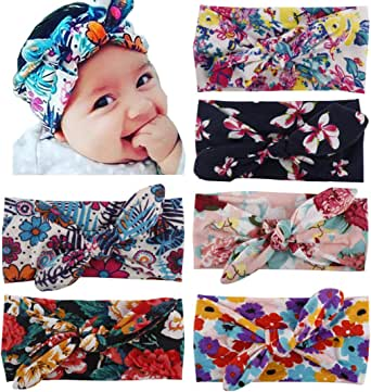Toptim Baby Headbands Turban Knotted, Girl's Hairbands for Newborn,Toddler and Childrens