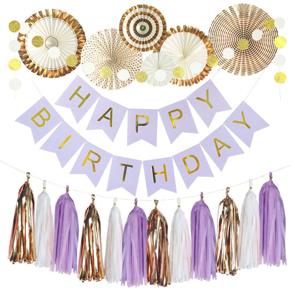 Scimmia casa pezzi di carta velina fans, Happy Birthday banner party Decorations Circle Dots ghirlanda in carta, carta velina nappa per primo compleanno Baby Shower Supplies Colorful Theme Umiss Paper