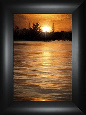 Amazon.com: Sparkling Shimmer By Todd Thunstedt 24x18 Fog Night Bay ...