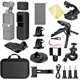 Neewer 21-in-1 Expansion Kit Compatible with DJI OSMO Pocket Action Camera Mounts, Accessory Bundle Kit with Carry Case/Phone Holder/Charging Base/Tripod/Car Suction Cup/Bicycle Bracket and More