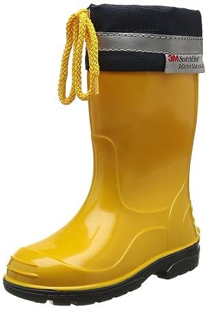 cheaper 82a44 8489d LEMIGO KIM Kinder Gummistiefel Regenstiefel Stiefel Regen Schuhe Farbe:Gelb  Größe:31