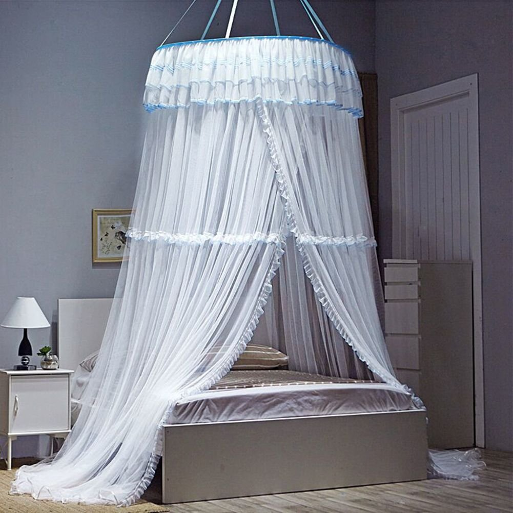 European Dome Ceiling Mosquito Nets/Simple,Fashion Round,Grounding Bed Net/Double,Increase The Density Of Mosquito Nets-A C
