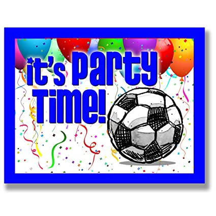 Amazoncom 12PACK SOCCER Party INVITATIONS Blue 425x55 12